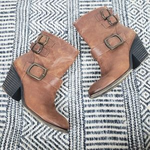 Lucky Brand Tommie Brown Leather Boots
